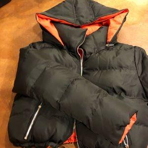 Black and orange reversible Maniere de voir  coat